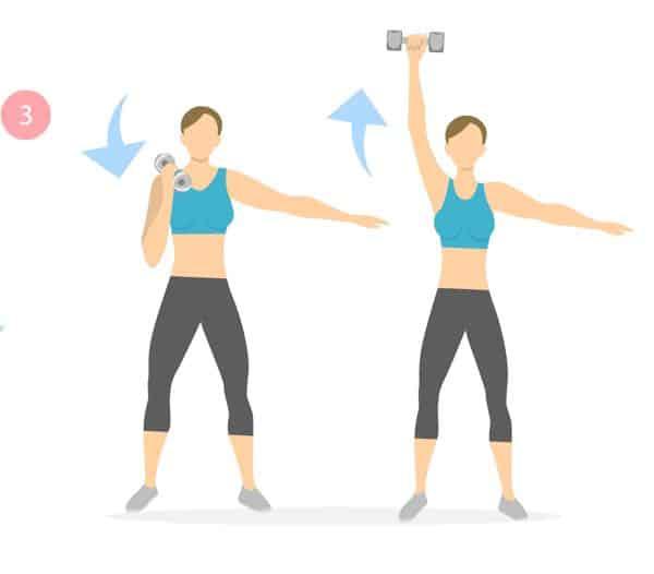 Armen trainen met gewichtjes