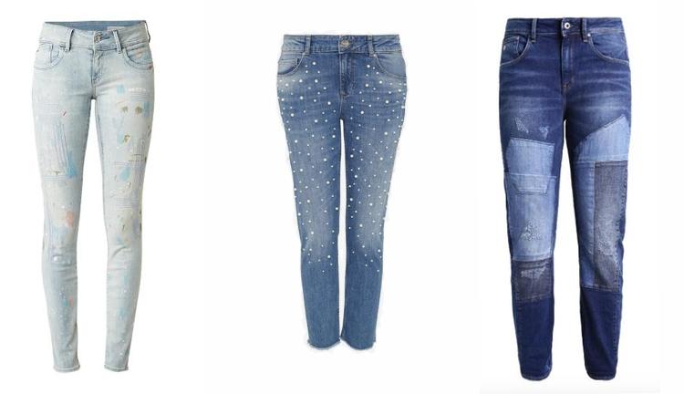 jeans versierd