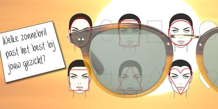 zonnebril bij je gezicht