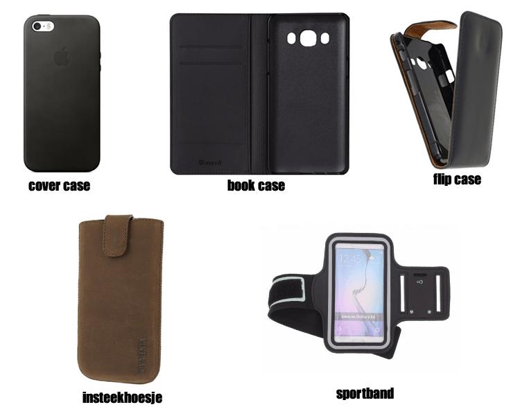 verschillende hoesjes mobiel