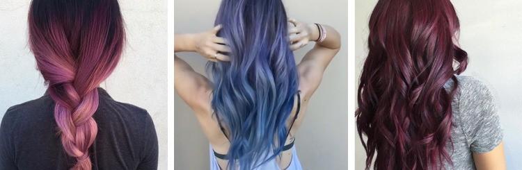 paars blauw haar