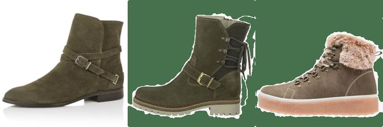 olijfgroene schoenen