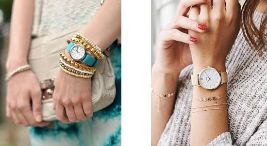 horloge met armbanden