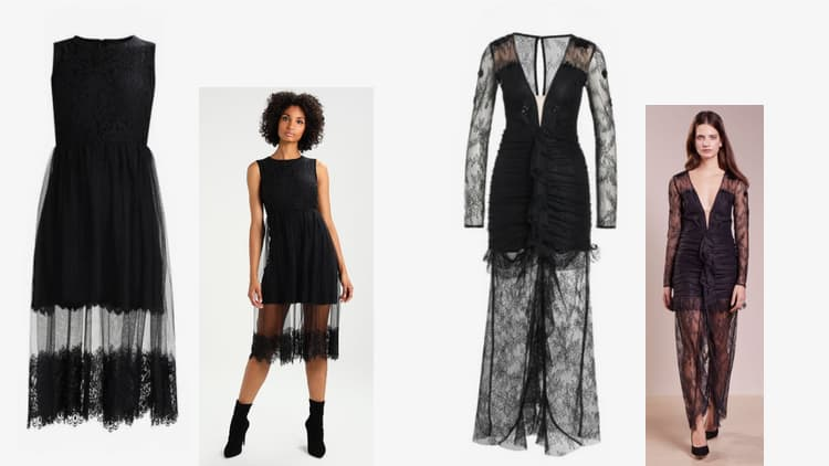 transparante jurken