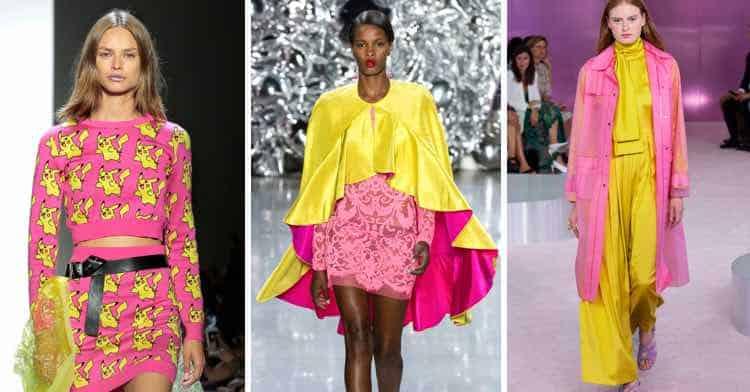 geel roze modetrend