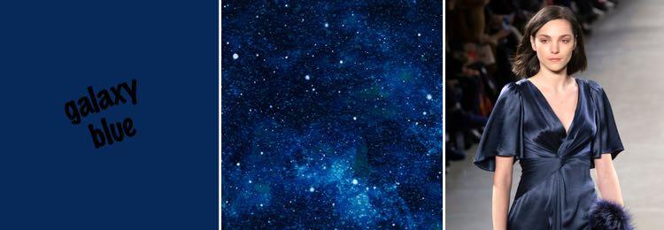 galaxy blauw kleur