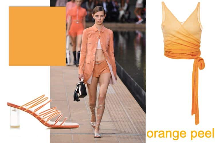 Oranje modekleur lente