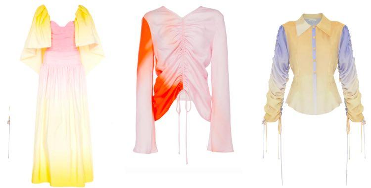 kleding met verlopende kleuren