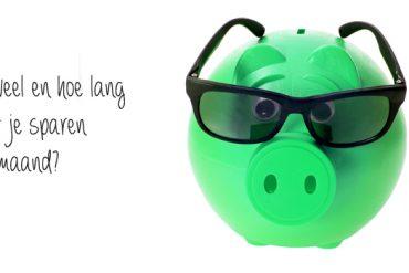 hoe lang moet je sparen per maand