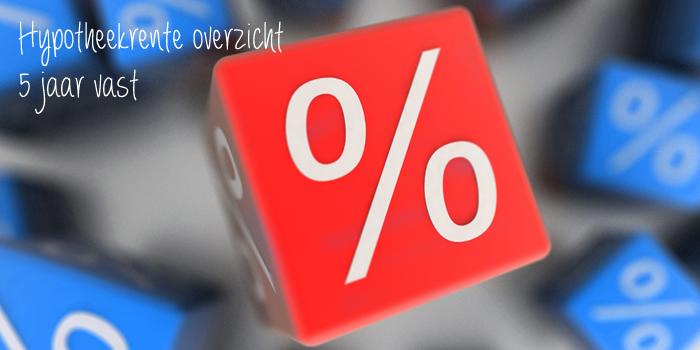 hypotheekrente overzicht 5 jaar vast
