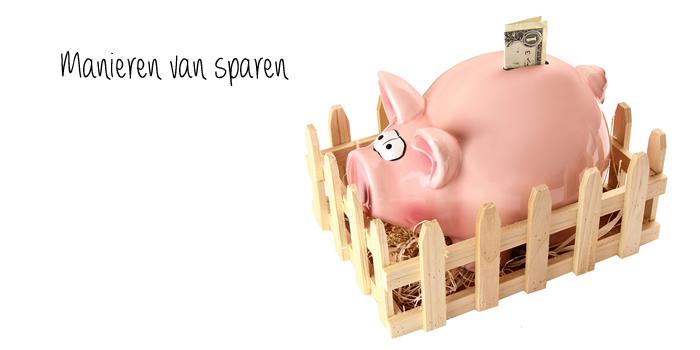 manieren van sparen