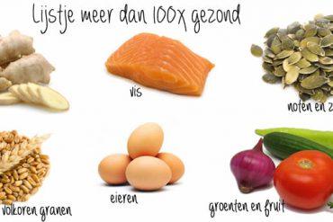 lijstje gezonde voeding