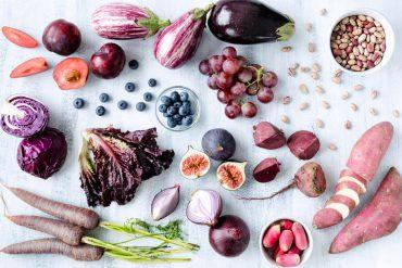 paarse groenten en fruit