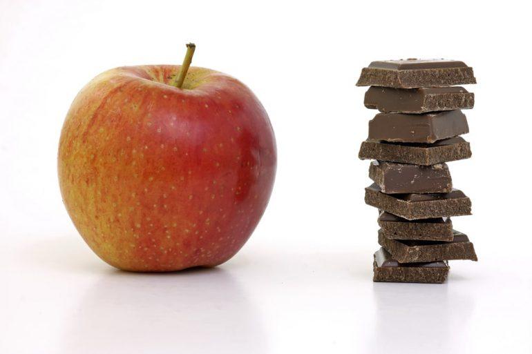 appel chocolade gezonde combinatie