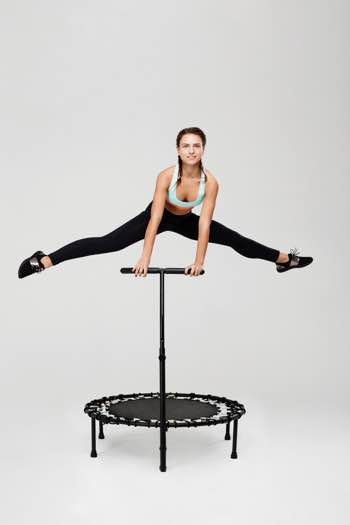oefeningen op trampoline