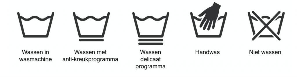 symbolen handwas machinewas
