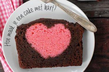 cake met hart