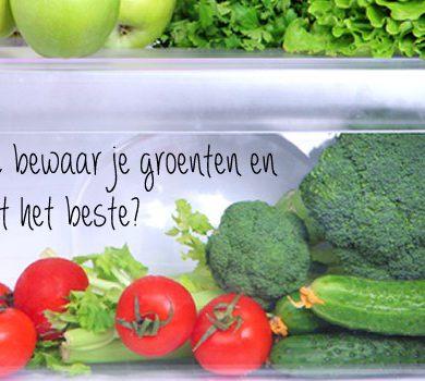 hoe bewaar je groenten en fruit