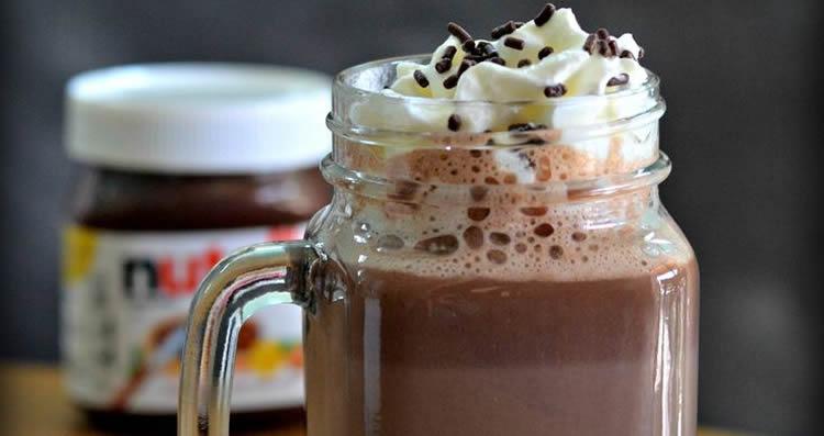 chocolademelk van nutella