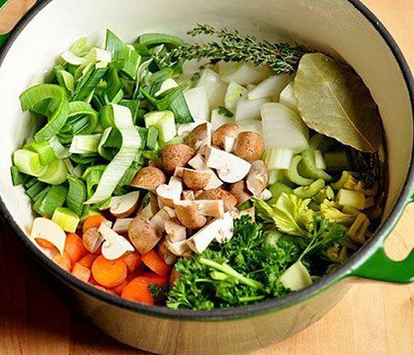 vegetarische bouillon maken