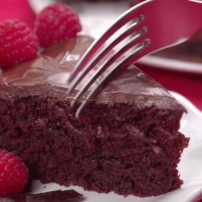 chocolade cake zonder boter melk en eieren