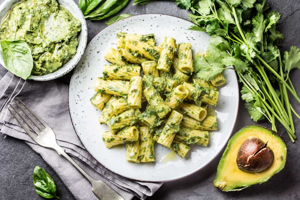 avocado pasta pesto