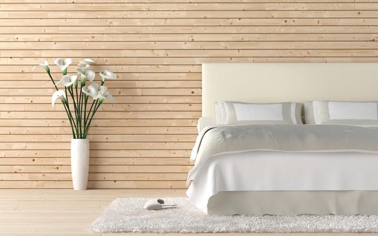 hout in slaapkamer