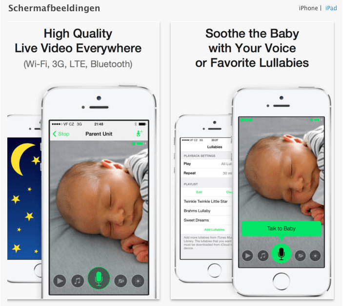babyfoon app