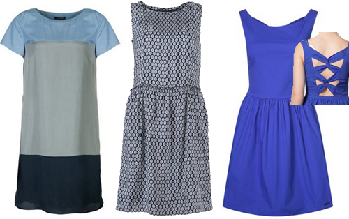 blauwe jurken voorjaar lente