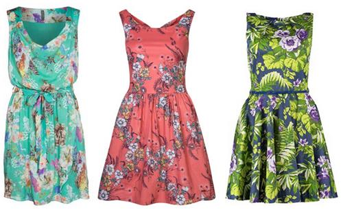jurken met bloemenprint 2014