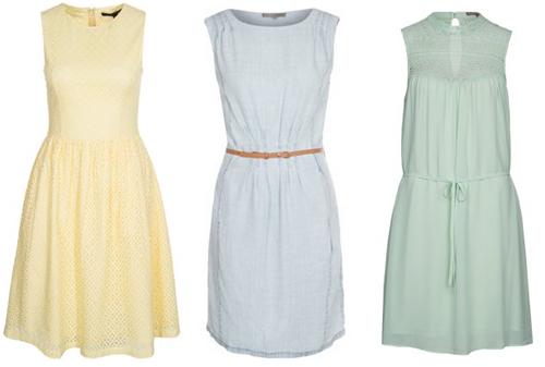 jurken in pastel