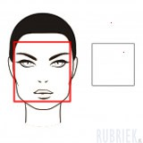 vierkant gezicht