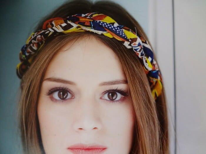 sjaal als haarband