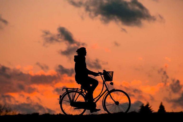 op de fiets naar je werk dag
