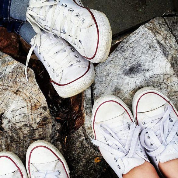 witte sneakers weer wit